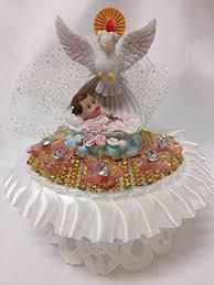 Amazoncom Christening Baby Girl With White Dove Centerpiece Cake
