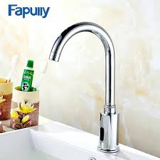 Inspiring Bathroom Touch Faucet Chrome Basin Infrared Sense  Water Automatic Hands Free   Sink14