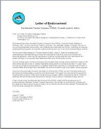 Endorsement Letters Letter Of Endorsement Cityesporaco 18