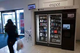 Ipod Vending Machine Locations Adorable Vending Machines Now Dispense IPods GPS Gear
