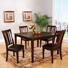 Shop Furniture Of America Bridgette I Espresso Dining Set With
