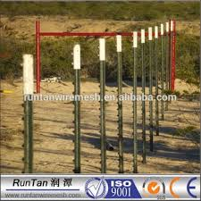 white fence post. ISO9001 10\u0027 3.05m Green And Top White Paint T Bar Fence Post With Plate N