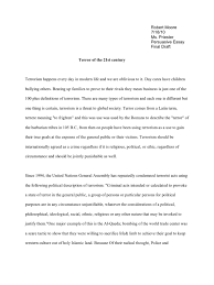 persuasive essay final draft politics national security