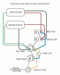 old pickups, new wiring Single Pickup Guitar Wiring Diagram name teisco diagram png views 2676 size 22 6 kb single pickup electric guitar wiring diagram
