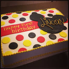 Mickey Mouse 1st Birthday Cake Mickey Mouse First Birthday Cake