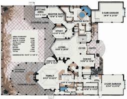 Stunning Two Story Luxury Home Plan   WE   st Floor Master    Floor Plan