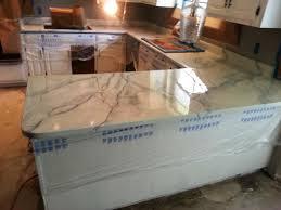 white carrera marble kitchen