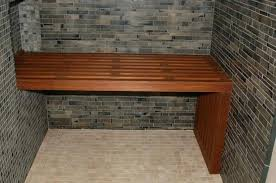 wood shower bench diy teak wayfair wooden stool australia seat fold up design best bathrooms delightful