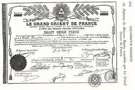 rizaliana section rizal s diploma by le grand orient de