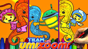 Team Umizoomi And Sea Horse Coloring