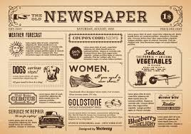 Vintage Newspaper Template Free Old Newspaper Vector Download Free Vector Art Stock Graphics Images