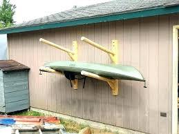 build a canoe storage rack kayak wall mount for garage 2 place diy build a canoe storage rack ideas outdoor kayak