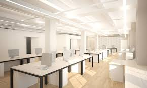 bright office. The Bright And Open Office Space Can Be Reconfigured On A Whim.