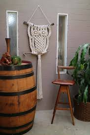 big al large owl wall hanging macrame