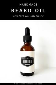 Recipe Labels The Best Recipe For Diy Beard Oil With Free Labels