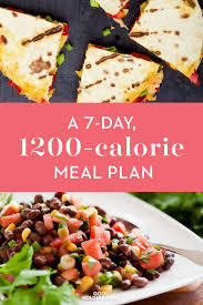 Healthy Meal Chart To Lose Weight 1 200 Calorie Diet Menu 7 Day Lose 20 Pounds Weight Loss