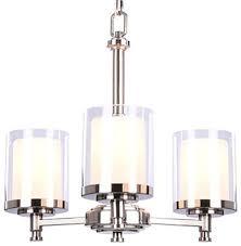 hampton bay burbank 3 light brushed nickel chandelier with dual glass shades