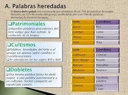 Palabras procedentes del latin