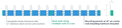 Row Of Hooks Coat Rack Hangsafe Racks Safety Coat Hooks idolza 66