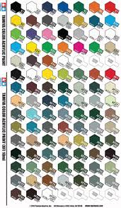 Tamiya Ps Paint Chart Tamiya Xf And X Colors 1 3 Oz Bottles