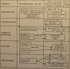 Чрезвычайные ситуации структура функции Реферат страница  Рис 1 Структура уровней РСЧС