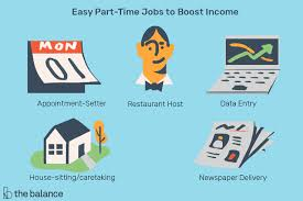 easiest part time jobs to boost your ine