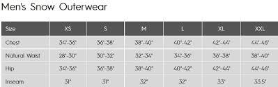 Winter Jacket Size Chart Quiksilver Anniversary Jacket Mens