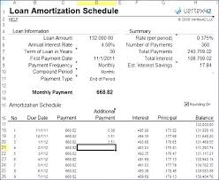 Mortgage Spreadsheet Amortization Excel Template Loan Schedule With