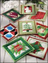 40 best Christmas Quilt Pattern Downloads images on Pinterest ... & make your favorite quilt block and turn out into a potholder Adamdwight.com