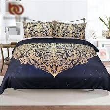 dark blue bedding sets mandala flowers duvet cover with pillowcase black dark blue bedding set queen dark blue bedding