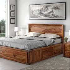 Rustic Wood Platform Bed Design Taffette Designs