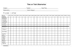 On Task Off Task Chart Proper Off Task Behavior Tally Chart Selecting And Defining