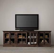french casement glass media console