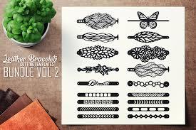 Leather Templates Leather Bracelets Svg Vol Ii Bundle Cutting Templates
