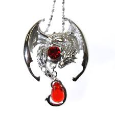 fafnir sterling silver 925 red crystal dragon pendant necklace anne stokes mythical companions little bo s boutique