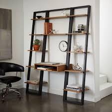 dual desk bookshelf small. Ladder Shelf Desk + Narrow Bookshelf Set $677 Dual Small D
