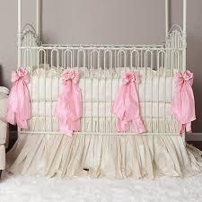 Baby Crib Bedding-Girl Crib Bedding-Celine-Olena Boyko & Celine in Pink Crib Bedding - Cotton or Silk Adamdwight.com