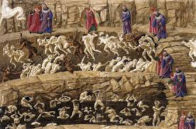 Botticelli Chart Of Hell High Resolution Web Gallery Of Art Searchable Fine Arts Image Database