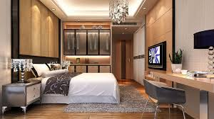 modern bedroom with tv. Modern Style Bedroom TV Wall And Bed Back With Tv
