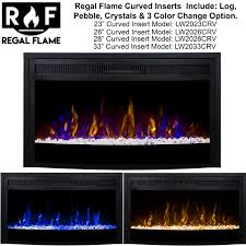 regal flame inch curved ventless heater electric fireplace insert dimplex myst vanity dresser white log burner