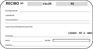 Modelo De Recibo Como Fazer Um Recibo Online Veja Modelos Prontos
