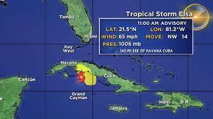 Tracking Tropical Storm Elsa: Tropical ...
