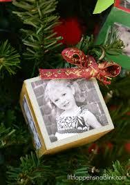 Wooden Photo Block Ornament