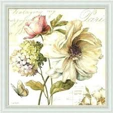 floral wall art framed