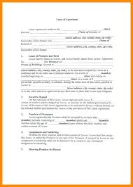 Apartment Lease Template Free Residential Lease Template Apartment ...