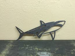 zoom on metal beach theme wall art with shark metal art jaws metal wall decor fixer upper boys