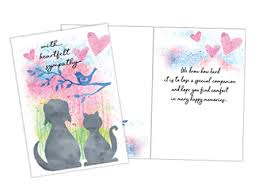 sympathy card pet animal and pet sympathy cards for veterinarians pet gifts and