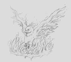 Drawings Of Phoenix Phoenix Drawings In Pencil Pencil Sketch Of A Phoenix In