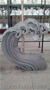 outdoor landscaping spindrift sculpture statue for grey granite statues