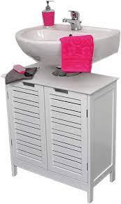 Amazon Com Evideco Non Pedestal Bath Under Sink Storage Vanity Cabinet Miami White